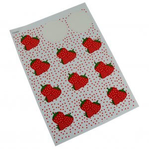 decoratie sticker etiketten aardbeien